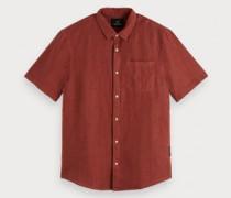 Regular-Fit Kurzarmhemd aus Leinen