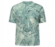 T-Shirt mit All-Over Marmormusterung