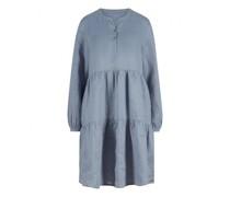 Kleid mit Falten-Details aus Leinen