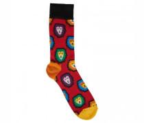 Socken mit Löwen-Motiv