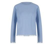 Cashmere-Pullover mit Fransenabschluss