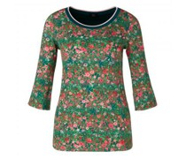 Shirt mit floraler Musterung