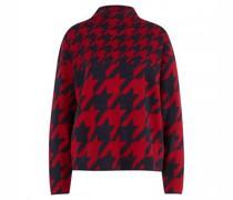 Pullover 'Fadanas' mit Stehkragen und All-Over Pepita-Muster