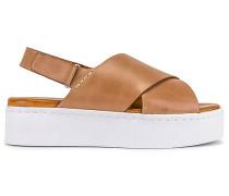 Peach Flatform Sandale