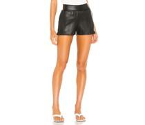 Faux Leather Jogger Short