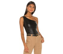 Faux Leather One Shoulder Body