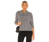 Boucle Cowl Neck Pullover