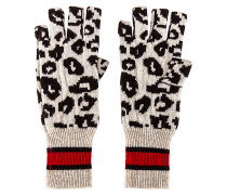 Sporty Athletic Leopard Fingerless Handschuhe
