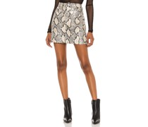Faux Leather Bodycon Minirock