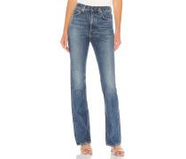 Ausgestellte Vintage-Jeans mit hohem Bund