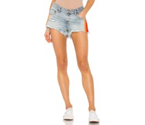 Retro Stripe Bonita Low Waist Jeansshort