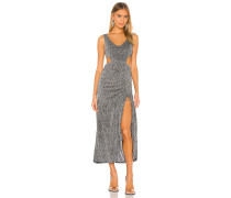 Ruched Cut Out Maxikleid