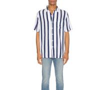 Stripe Kurzarm Hemd / Bluse