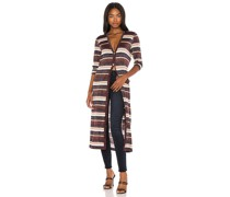 Lulex Stripe Cardigan in Brown