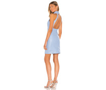 Ruching Neck Backless Kleid
