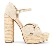 Knotted Platform Sandale