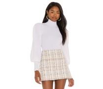 Babette Rollkragenpullover Puff Sleeve Ribbed Pullover