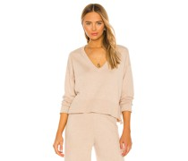 Essential V-Ausschnitt Crop Pullover
