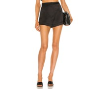 Gaines Structured Satin Shorts
