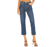 Riley hohe Straight Crop Jeans