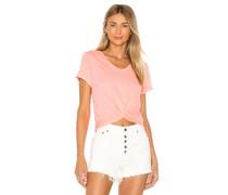 Light Weight Jersey Cropped Twist Tshirt