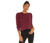 Rayon Terry Puff Shoulder Top