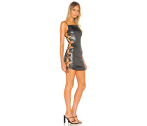Gloss Side Lace Up Minikleid