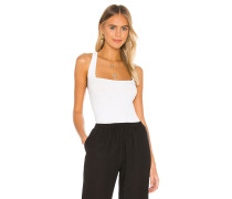 Military Cotton Rib Cropped Cross Back Tank