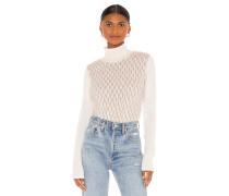 Fluffy Honeycomb Mock Pullover
