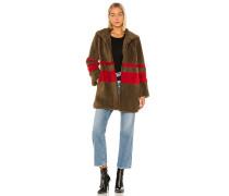 Evian Stripe Sherpa Mantel / Jackett
