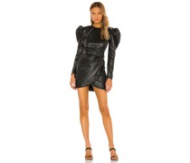 Donatella Vegan Leather Minikleid