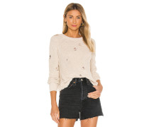 Distressed Scallop Shaker Pullover
