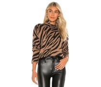 Zebra Funnel Neck Pullover