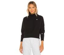 Cropped-Sweatshirt mit hohem Kragen