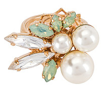 Pearl & Kristallring