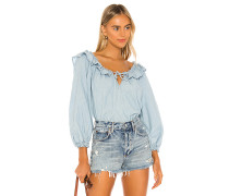 Lily Of The Valley Chambray Bluse