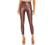 Faux Leather Animal Legging