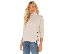 Side Buttoned Mock Pullover