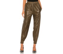Leather Jogger Hose