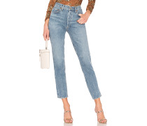 Remy High-Rise-Jeans mit geradem Bein