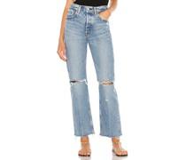 Viola Straight-Jeans mit weitem Bein