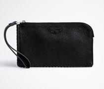 Smartphone-tasche Phone Wallet Aus Genarbtem Leder