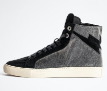 Sneakers Zv1747 High Flash Sparkle Suede
