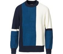 Ivan Bold Block Pullover Navy