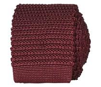 Stricked Silk Krawatte 6 cm Wine Red