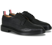 Pebble Grain Longwing Brogue Black Calf