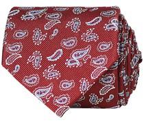 Paisley Woven Silk Krawatte 8 cm Wine Red