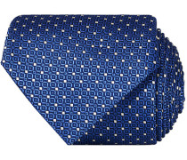 Silk Dotted 8 cm Krawatte Blue