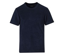 Fons Baumwoll Blend Terry Pocket Tshirt Navy