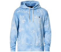 Printed Spa Terry Hoodie French Blue